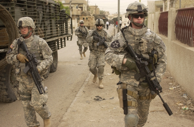 US Army patrol in Iraq
