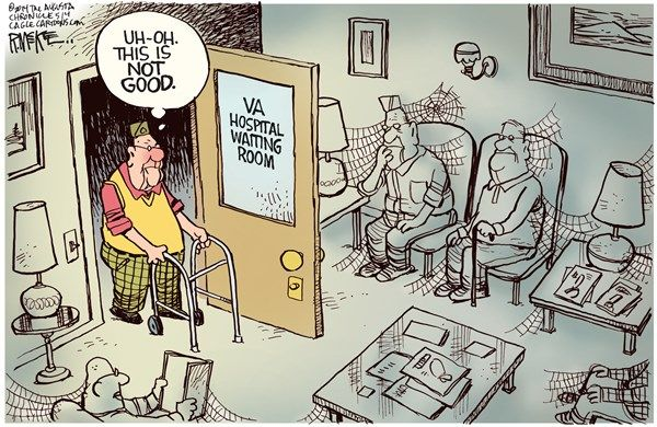 Emergency Room Waiting Cartoon The VA Scandals...