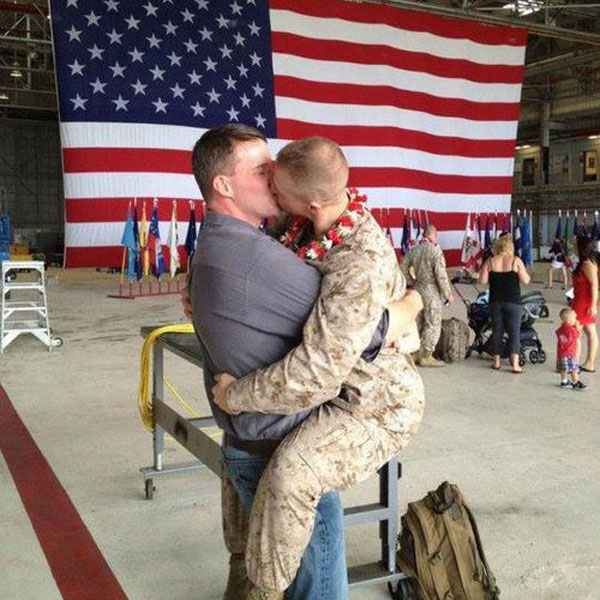 Marines Marry - photo from Freedom to Marry