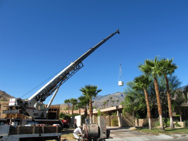 Craning in Evaporative Coolers