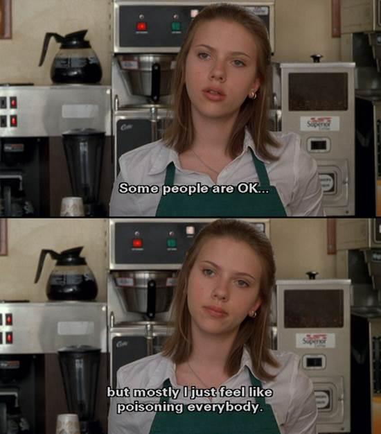Unhappy college grad working at Starbucks